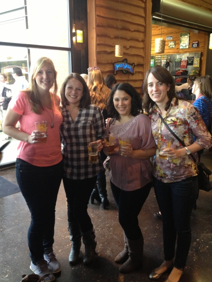 Hanging out with some fun ladies at Sweetwater Brewery (Jess, me, Katie & Michelle)