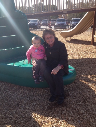 Elodie + Grandma at the park